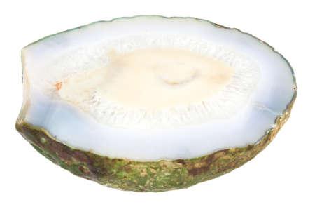 Slice of stone isolated on white background Stock Photo