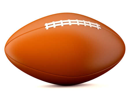 bal: American football bal isolated on white backgroundl. 3d illustration