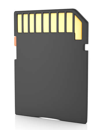 micro drive: Memory flash card isolated on white background  3d illustration Stock Photo