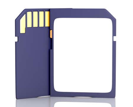 Memory flash card isolated on white background  3d illustration Stock Photo