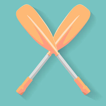 oars: Two cross sport oars  vector illustration Illustration