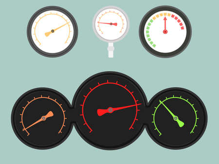 Set of four gauges  Vector illustration Иллюстрация