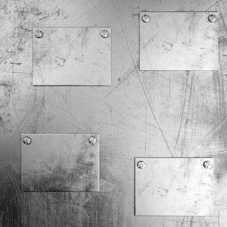 rivet: Grunge metal background with rivet in center. 3d render