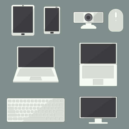 cam gear: Computer icon set. EPS10 Vector illustration