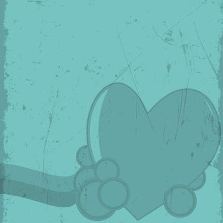 eps10: Abstract heart on grunge background. Eps10 vector illustration Illustration