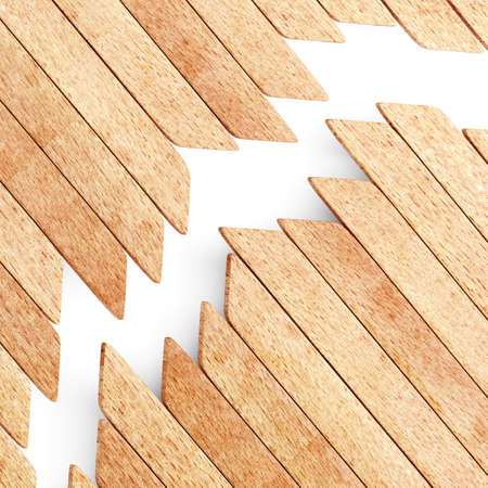 planks: Background of wooden planks. 3d render Stock Photo
