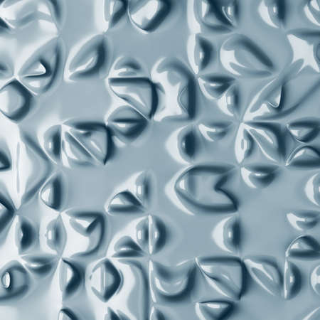 abstract background with flowing forms. 3d render Stock Photo
