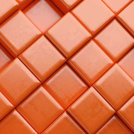 Abstract background with  cubes. 3d render Stock Photo