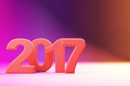 newyear: 2017 new year figures on gradient background