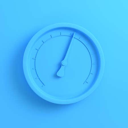 Gauge on bright blue background. Minimalism concept. 3d render