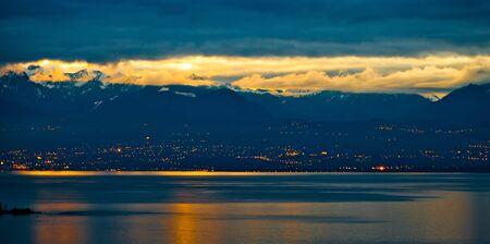 Sunrise at Chablais Alps, France photo