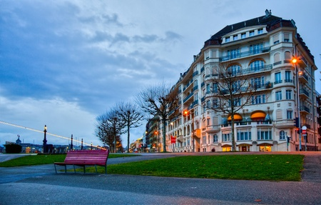 Geneva Cityscape in early morning.