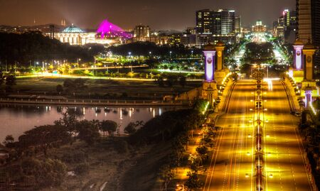 Putrajaya Malaysia cityscape at night photo