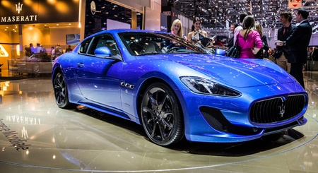 Geneva, Switzerland- 8th March 2012. Maserati Grand Turismo Sport at 82nd Geneva International Motorshow 2012. The event is held from 8 to 18 March 2012. Stock Photo - 12572934