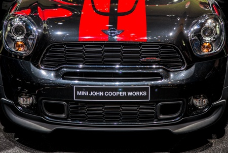 Geneva, Switzerland- 8th March 2012. 2013 Mini Countryman JCW at 82nd Geneva International Motorshow 2012. The event is held from 8 to 18 March 2012. Stock Photo - 12572929