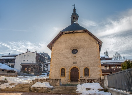 Saint Jean Baptiste church in Megeve, France photo