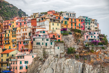 Colored buildings in Manarola, Cinque Terre, Italy  Manarola