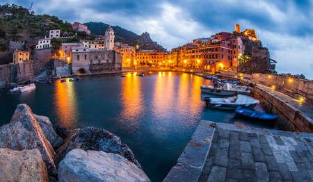 Boats at Vernazza s harbor, Cinque Terre, Italy photo