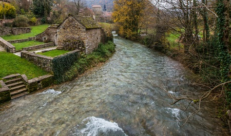 France s medieval Jura village of Baume-les-Messieurs Stock Photo - 16492297