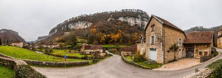 View of France s medieval Jura village of Baume-les-Messieurs  Stock Photo - 16491956