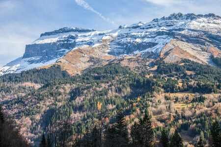 massif: The Grand Massif mountain range at Sixt Fer a Cheval, France