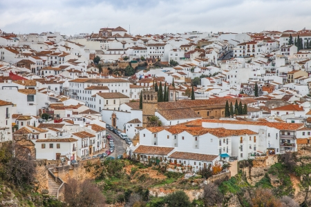 andalucia: View of Ronda, Andalucia, Spain Stock Photo