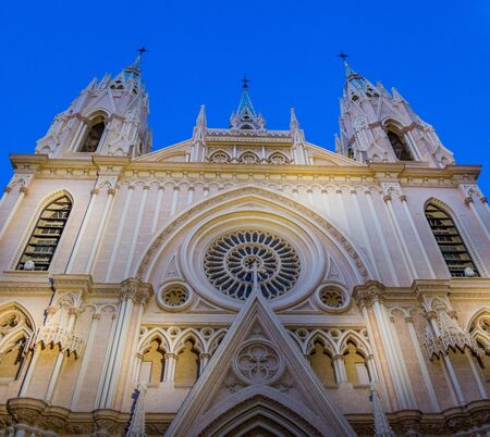 neo gothic: Temple of the Sacred Heart neo gothic church in Malaga, Spain