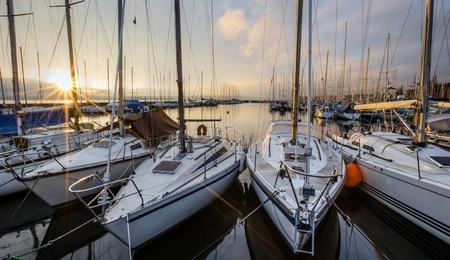 Sailboats and Dawn