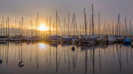 Sailboats and Dawn photo