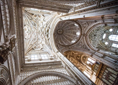 Ceiling details and motif of the Mosque-Cathedral of Cordoba
