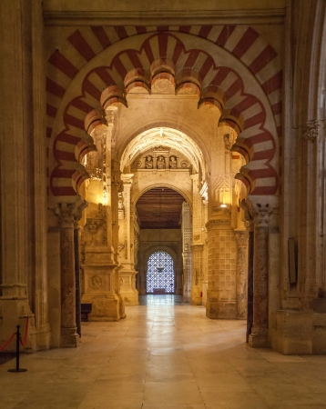 Interior view of the Mosque-Cathedral of Cordoba