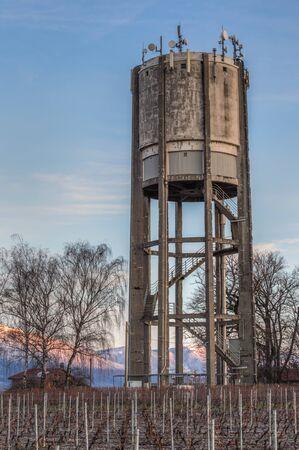 Water tank in rural Switzerland Stock Photo - 17316593