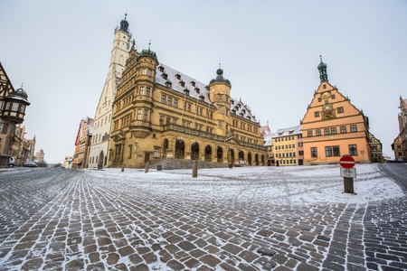 der: Rothenburg ob der Tauber Town Hall  Rahthaus  and market square