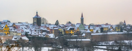 der: View of the Romantic Road medieval town, Rothenburg ob der Tauber, Bavaria, Germany Stock Photo