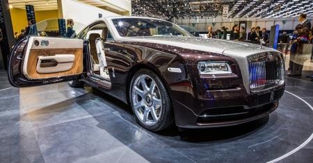 83rd: GENEVA, SWITZERLAND - MAECH 7TH,  2013. Rolls Royce Wraith debut at the 83rd Geneva International Motorshow  on March 7th, 2013 at Geneva, Switzerland. Editorial