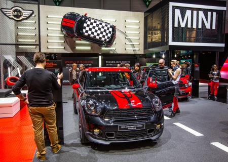 GENEVA, SWITZERLAND - MARCH 7TH, 2013. Mini John Cooper Works Pacemanthe at 83rd Geneva International Motorshow  on March 7th, 2013.