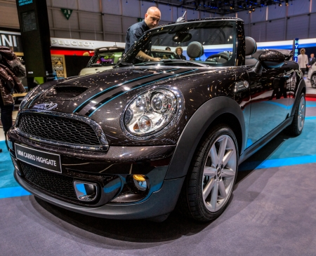 83rd: GENEVA, SWITZERLAND - MARCH 7TH, 2013. Mini Cabrio Highgate at 83rd Geneva International Motorshow  on March 7th, 2013 at Geneva, Switzerland.