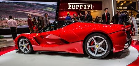 83rd: GENEVA, SWITZERLAND - MARCH 7TH, 2013. Ferrari La Ferrari at the 83rd Geneva International Motorshow  on March 7th, 2013 at Geneva, Switzerland.