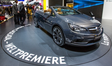 83rd: GENEVA, SWITZERLAND - MARCH 7TH, 2013. Vauxhall Cascada at the 83rd Geneva International Motorshow  on March 7th, 2013 at Geneva, Switzerland.