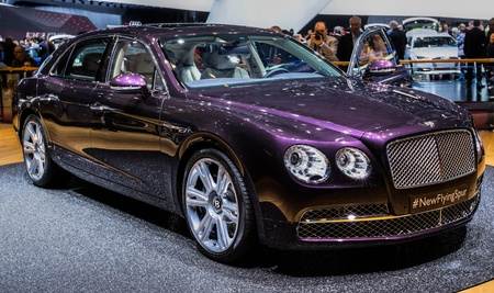 83rd: GENEVA, SWITZERLAND - MARCH 7TH, 2013. Bentley Flying Spur at the 83rd Geneva International Motorshow  on March 7th, 2013 at Geneva, Switzerland.