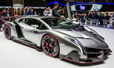 GENEVA, SWITZERLAND - MARCH 7TH, 2013. Lamborghini Veneno at the 83rd Geneva International Motorshow  on March 7th, 2013 at Geneva, Switzerland. Editorial