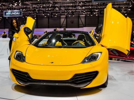 83rd: GENEVA, SWITZERLAND - MARCH 7TH, 2013. McLaren P1 at the 83rd Geneva International Motorshow  on March 7th, 2013 at Geneva, Switzerland.