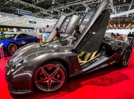 83rd: GENEVA, SWITZERLAND - MARCH 7TH, 2013. Sbarro car at the 83rd Geneva International Motorshow  on March 7th, 2013 at Geneva, Switzerland.