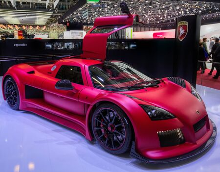 83rd: GENEVA, SWITZERLAND - MARCH 7TH, 2013. Gumpert at  the 83rd Geneva International Motorshow  on March 7th, 2013 at Geneva, Switzerland.