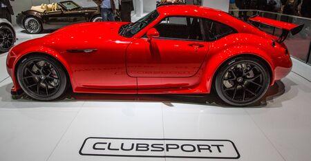 83rd: GENEVA, SWITZERLAND - MARCH 7TH, 2013. Wiesmann GT MF4 Clubsport at the 83rd Geneva International Motorshow  on March 7th, 2013 at Geneva, Switzerland.