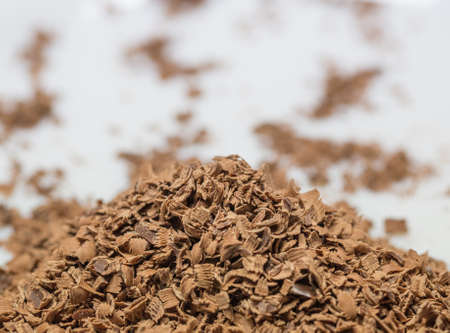 Grated chocolate for cake toppings photo