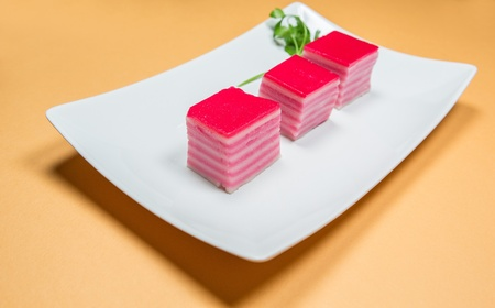 lapis: Kueh Lapis, a traditional and popular Malaysian bite-sized sweet snack or savory dessert in Malaysia
