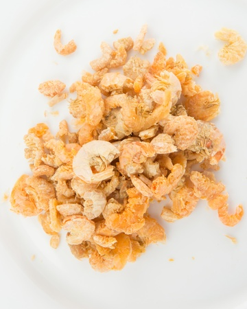 A group of dried shrimps, an asian cooking ingredient  photo