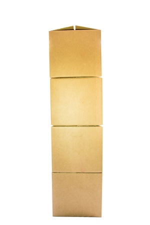 Cardboard box over white background photo