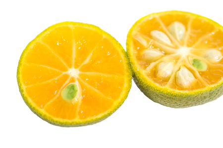 Calamansi over white background Standard-Bild